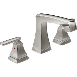 Delta 3564-MPU-DST Ashlyn Widespread Bathroom Faucet with Pop-Up Drain Assembly - Includes Lifetime Warranty