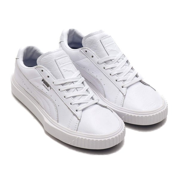 05c817fb52cc Shop Puma Mens Breaker Leather Low Top Lace Up Fashion Sneakers - 8 ...