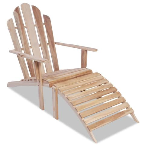 "vidaXL Adirondack Chair Solid Teak Wood - 59"" x 26"" x 36.2"""