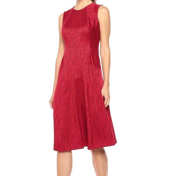 Anne Klein Titian Womens Fit And Flare A-Line Dress
