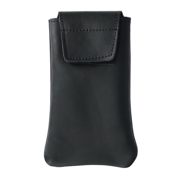 Boston Leather Solid Leather Eyeglass Case - one size