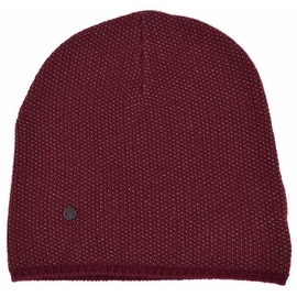 New Gucci 352350 Men's Burgundy Beige Wool Cashmere Beanie Ski Winter Hat XL