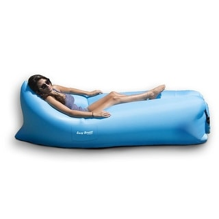 "94"" Inflatable Blue Easy Breeze Land or Water Air Sofa"