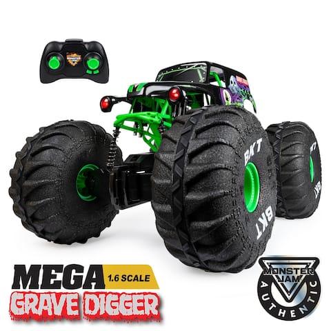 Monster Jam Official MEGA Grave Digger All-Terrain Remote Control 1:6 Scale Monster Truck