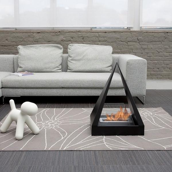 Keops Free-Standing Fireplace - Black