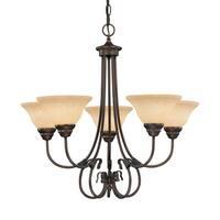 Millennium Lighting 1095 Fulton 5 Light Single Tier Chandelier - Rubbed bronze