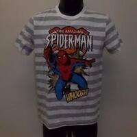 Spiderman Youth Size (10/12) M Medium Striped Shirt Marvel 70Mg