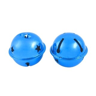 Unique Bargains 2 Pcs Hollow Out Star Design 40mm Dia Ring Bell Decor Royalblue for Xmas Tree