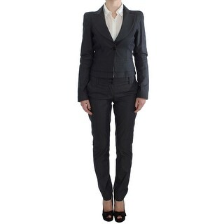 EXTE Gray One Button Two Piece Suit - it42-m
