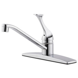 Design House 546002 Single Handle Kitchen Faucet, Polished Chrome