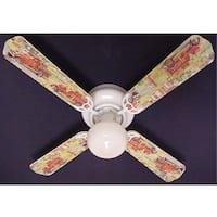 Nostalgic Fire truck Print Blades 42in Ceiling Fan Light Kit - Multi