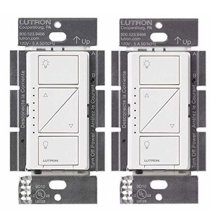 Lutron PD-10NXD-WH Caseta Pro In Wall Dimmer 250W LED (2 Pack) - White
