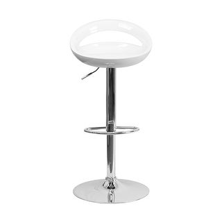 Shop Offex Contemporary White Vinyl Adjustable Height Bar
