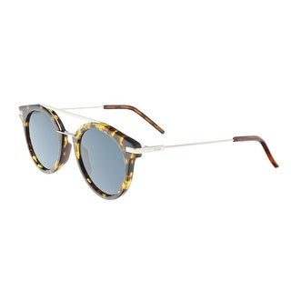 Fendi FF 0225/S 09G0 Havana Palladium Round Sunglasses - havana palladium - 49-21-145