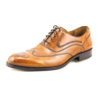 Johnston & Murphy Stratton Wingtip Men W Wingtip Toe Leather Tan Oxford