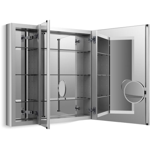 Kohler K 99011 Scf Verdera 30 X 40 Triple Door Mirrored Medicine Cabinet With Plain Mirror And Three Adjule Shelves Free Shipping Today
