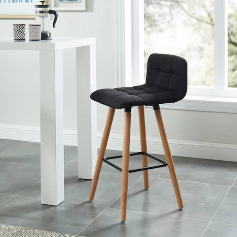 Fabric/Solid Wood Counter Stool - Set of 2