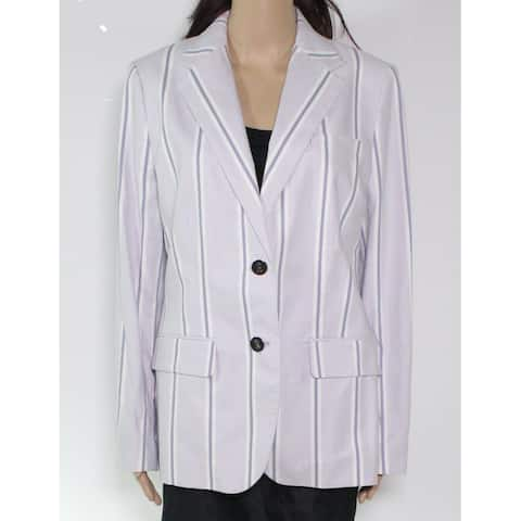 Lauren by Ralph Lauren Women's Jacket Purple 10 Striped Button Front