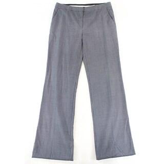 Max Mara Blue Women's Size 14X37 Dot Dress Pants Wool Stretch