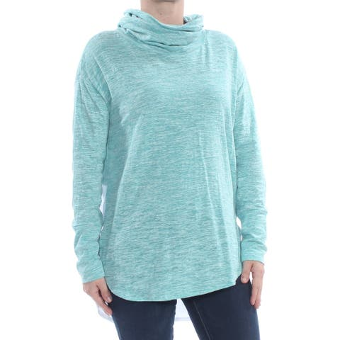 VINCE CAMUTO Womens Turquoise Long Sleeve Cowl Neck Top Size S