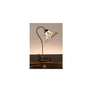 Meyda Tiffany 26590 Tiffany Single Light Desk Lamp - tiffany glass