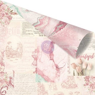 """Love Story Pink Foiled Double-Sided Cardstock 12""""X12""""-Love Notes Only For You"""