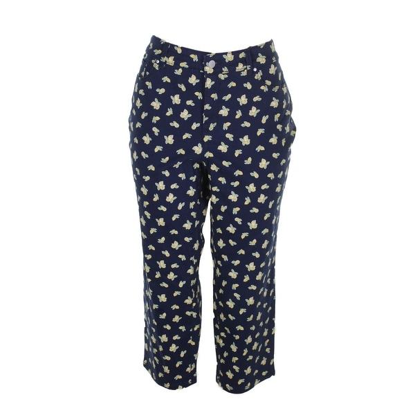 76ea4bbf5ff Charter Club Plus Size Blue Combo Lemon-Print Bristol Capri Jeans W - 14W