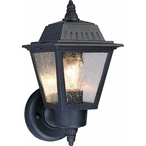 """Volume Lighting V8520 1 Light 10.5"""" Height Outdoor Wall Sconce with Clear Seedy"""