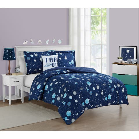 Space Boy Out of This World Ultra Soft 4 PC Comforter Bedding Set