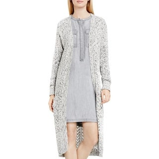 Two by Vince Camuto Womens Duster Sweater Marled Open Front
