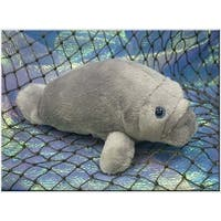 "Wishpets Unisex-Child Baby Manatee Plush Toy 8"" Gray"
