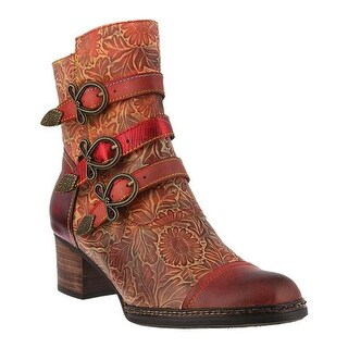 L'Artiste by Spring Step Women's Elsie Boot Red Multi Leather