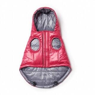 G.H. Bass NEW Pink Size Medium Reversible Packable Dog Puffer Coat