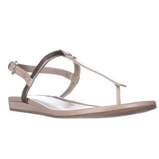 Cole Haan Boardwalk Flat T-Strap Sandals, Sandstone - 7 us