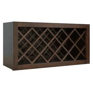"Healdsburg 30"" x 15"" Wine Bottle Rack Wall Cabinet"