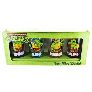 Teenage Mutant Ninja Turtles Names Pint Glass Set Of 4 - Multi