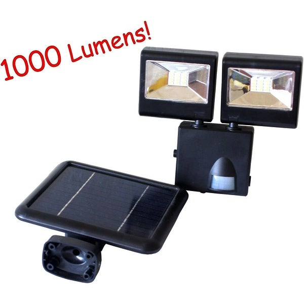 Kanstar outdoor 1000 lumens solar dual head motion sensor security kanstar outdoor 1000 lumens solar dual head motion sensor security flood light black aloadofball Image collections