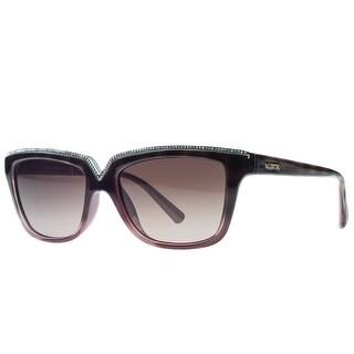 Valentino V646/SR 229 Havana/Red Rectangular Sunglasses
