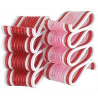 "2.75"" Peppermint Twist Red and White Ribbon Candy Christmas Ornament"