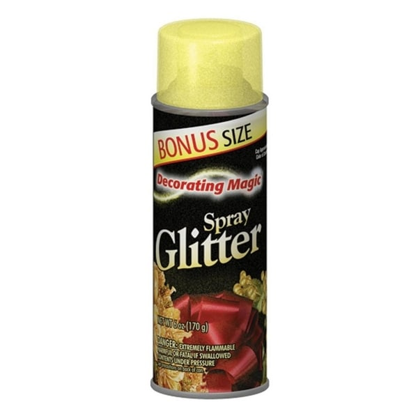 Decorating Magic Gold Glitter Christmas Spray - 6 Ounces