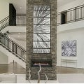 Statements2000 Silver Etched Modern Metal Wall Art Sculpture by Jon Allen - Silver Plumage - Thumbnail 10