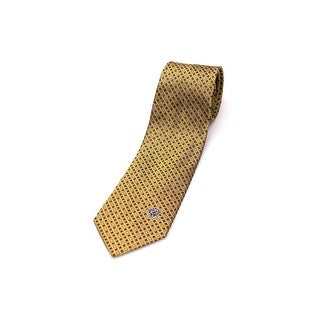 Versace Men Slim Silk Neck Tie CR8LSEB0338 0004 Gold