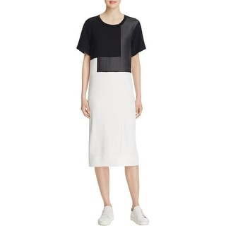 Pure DKNY Womens Casual Dress Colorblock Applique - l