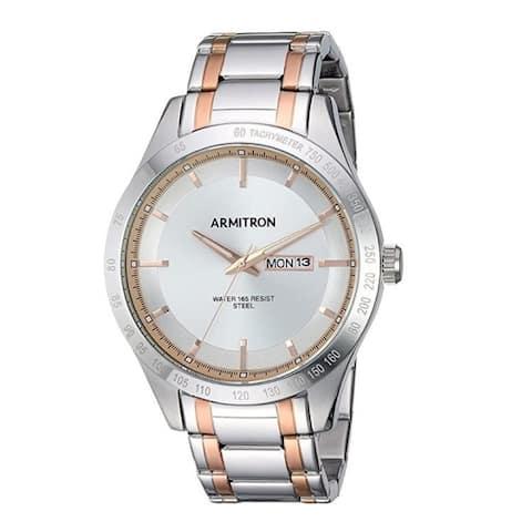 Armitron Men's 43mm Day/Date Function Two-Tone Bracelet Watch