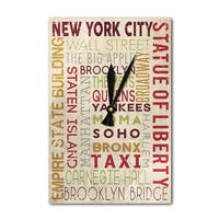 NY - Typography -  LP Artwork (Acrylic Wall Clock) - acrylic wall clock