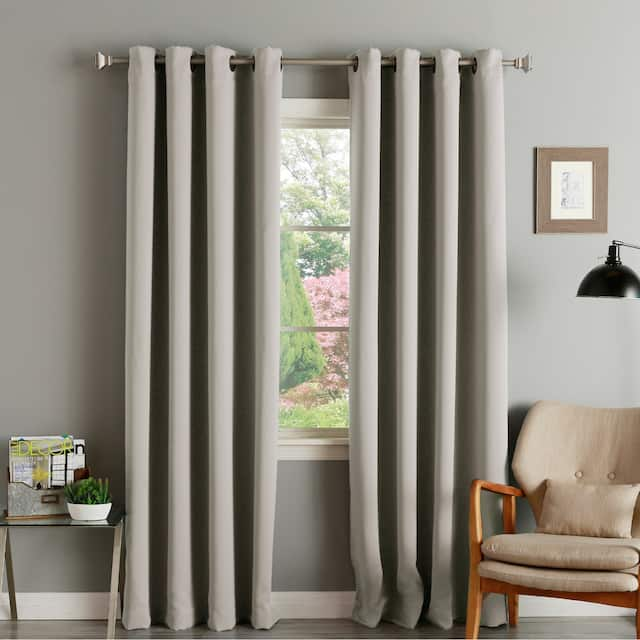 """Aurora Home Thermal Insulated Blackout Grommet Top Curtain Panel Pair - 52"""" w x 120"""" l - Clay"""