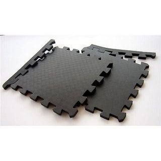 TNT Interlocking Gym Floor Mats 48 Square Feet Included in the Pack - Black