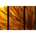 Statements2000 Red / Yellow / Orange Contemporary Metal Wall Art Painting by Jon Allen - Fall Plumage - Thumbnail 7