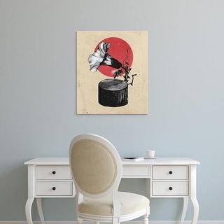 Easy Art Prints Ali Gulec's 'Gramophone' Premium Canvas Art