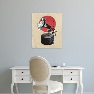 Easy Art Prints Ali Gulec's 'Gramophone B' Premium Canvas Art
